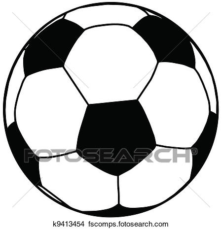 450x465 Clipart Of Soccer Ball Silhouette Isolation K9413454