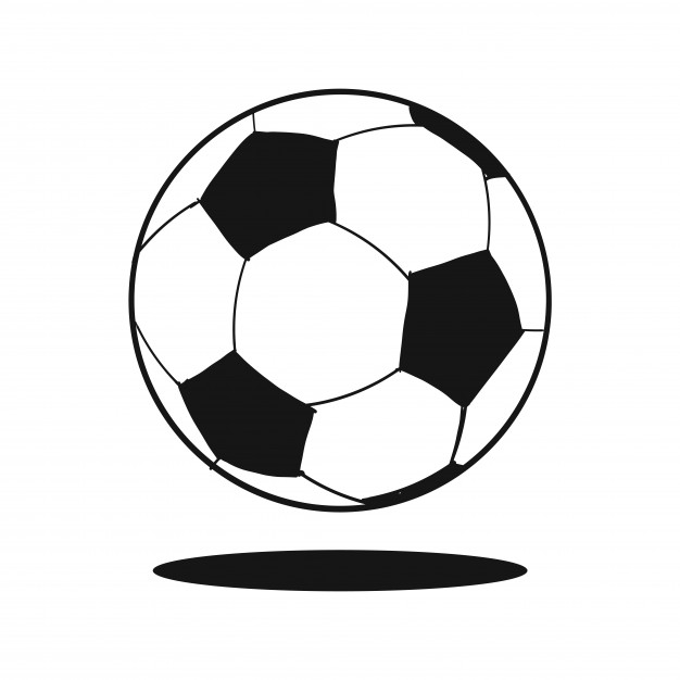 626x626 Doodle Soccer Ball Vector Free Download