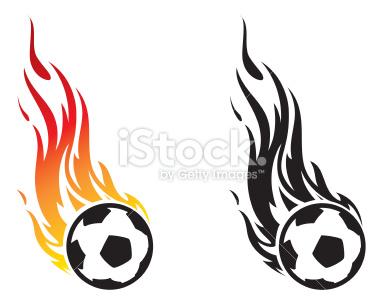 380x308 Flaming Soccer Ball Clip Art