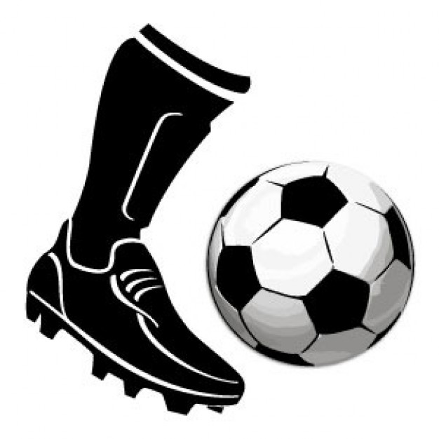 626x626 Free Kicking Soccer Ball Clip Art Image
