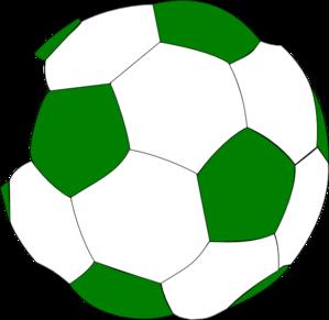 299x291 Green Soccer Ball Clip Art