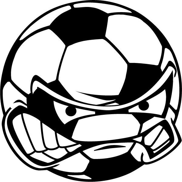 600x601 Angry Soccer Ball Clip Art