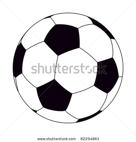 450x470 Of A Soccer Ball On A White Background In A Vector Clip Art