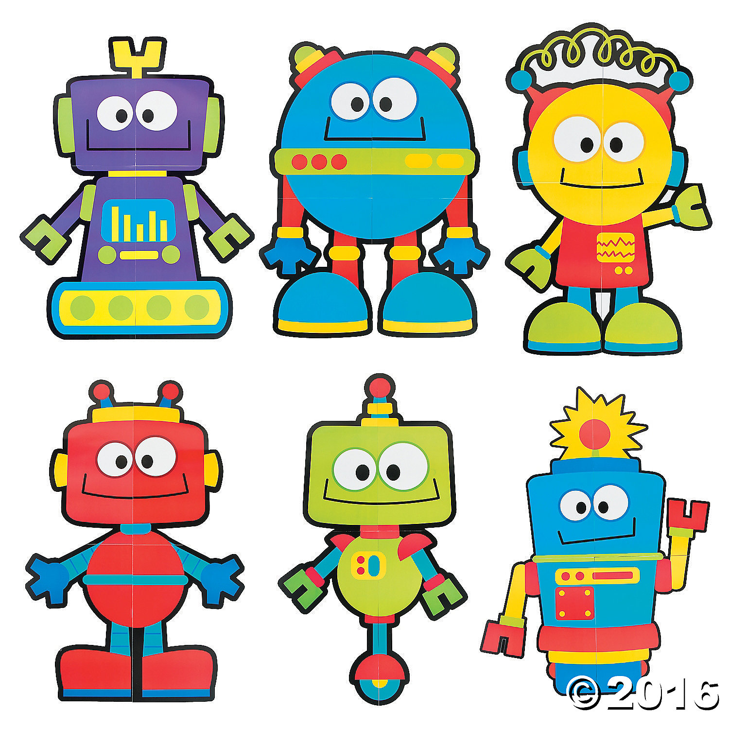 1500x1500 Giant Robot Cutouts Robot Classroom, Robot And Students