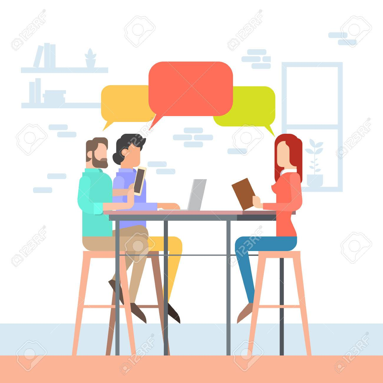 1300x1300 Creative Office Co Working Center People Sitting Desk Working