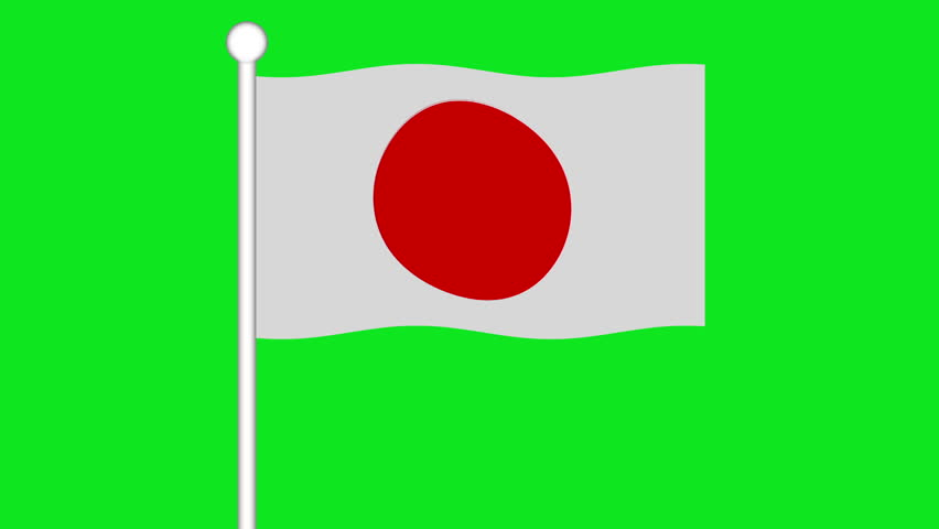 852x480 Flag Of Bangladesh Flapping In The Wind In A Sunny Day. Loopable