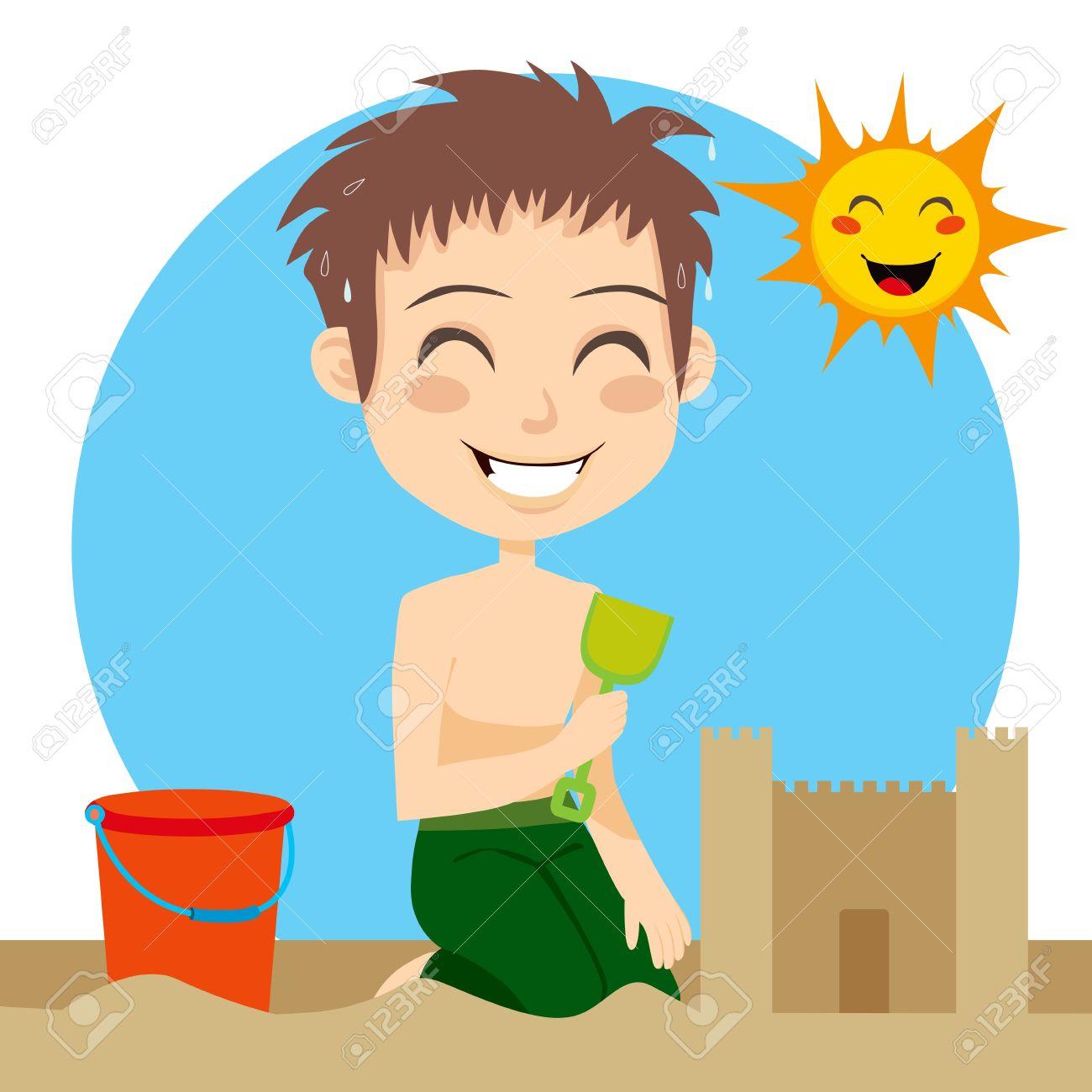 1300x1300 Sand Castle Clipart Sunny Day Beach