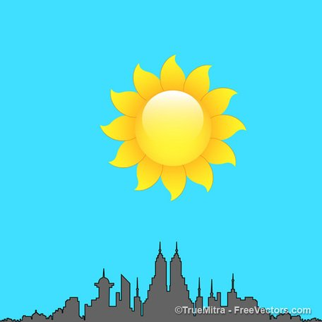 456x456 Sunny Day, Vector Images