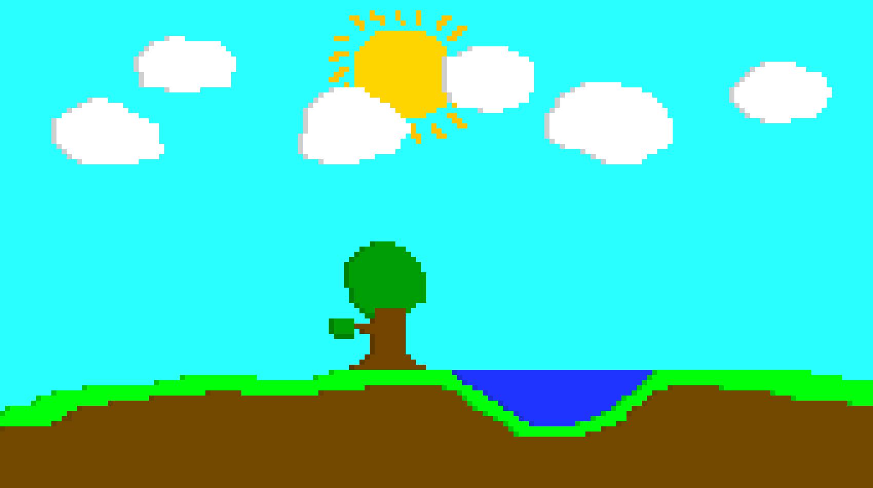 1700x950 Sunny Day Pixel Art Maker