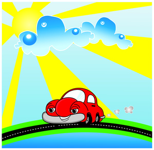 300x294 Sunny Clipart Image Going For A Drive On Day