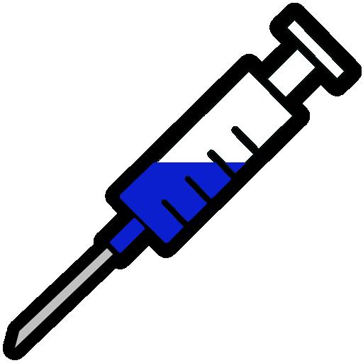 512x512 Blue Filled Syringe Clipart