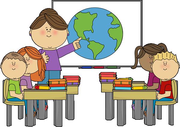 600x423 Teacher Teaching Students In Class Clipart