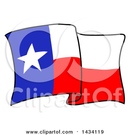 450x470 Clipart Of A Cartoon Waving Texas Flag