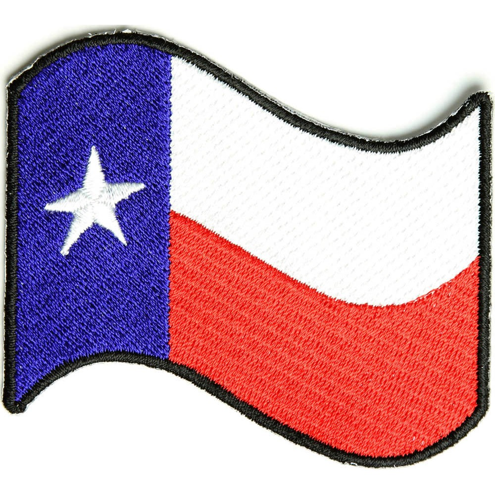 1000x1000 Waving Texas Flag Patch