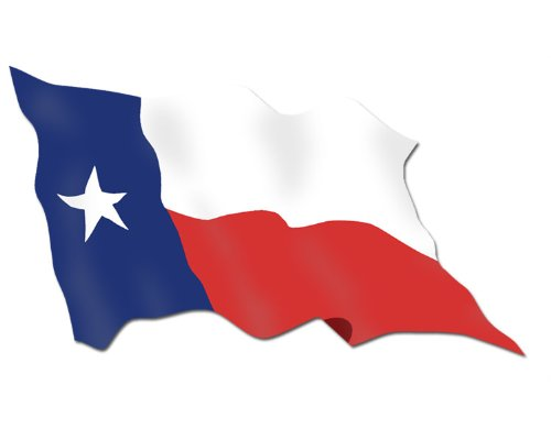 500x400 Waving State Flag Of Texas Sticker (Car Decal) Automotive