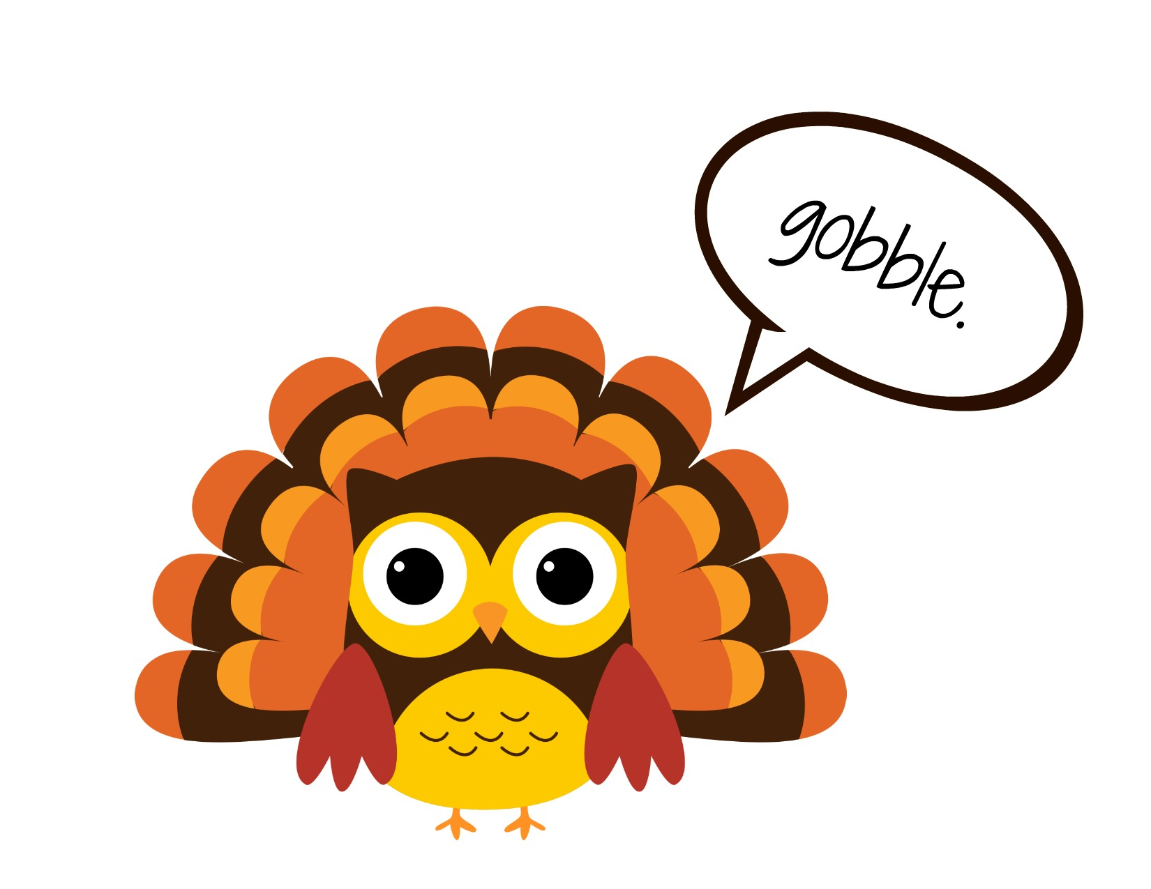 1650x1275 Small Thanksgiving Turkey Clipart