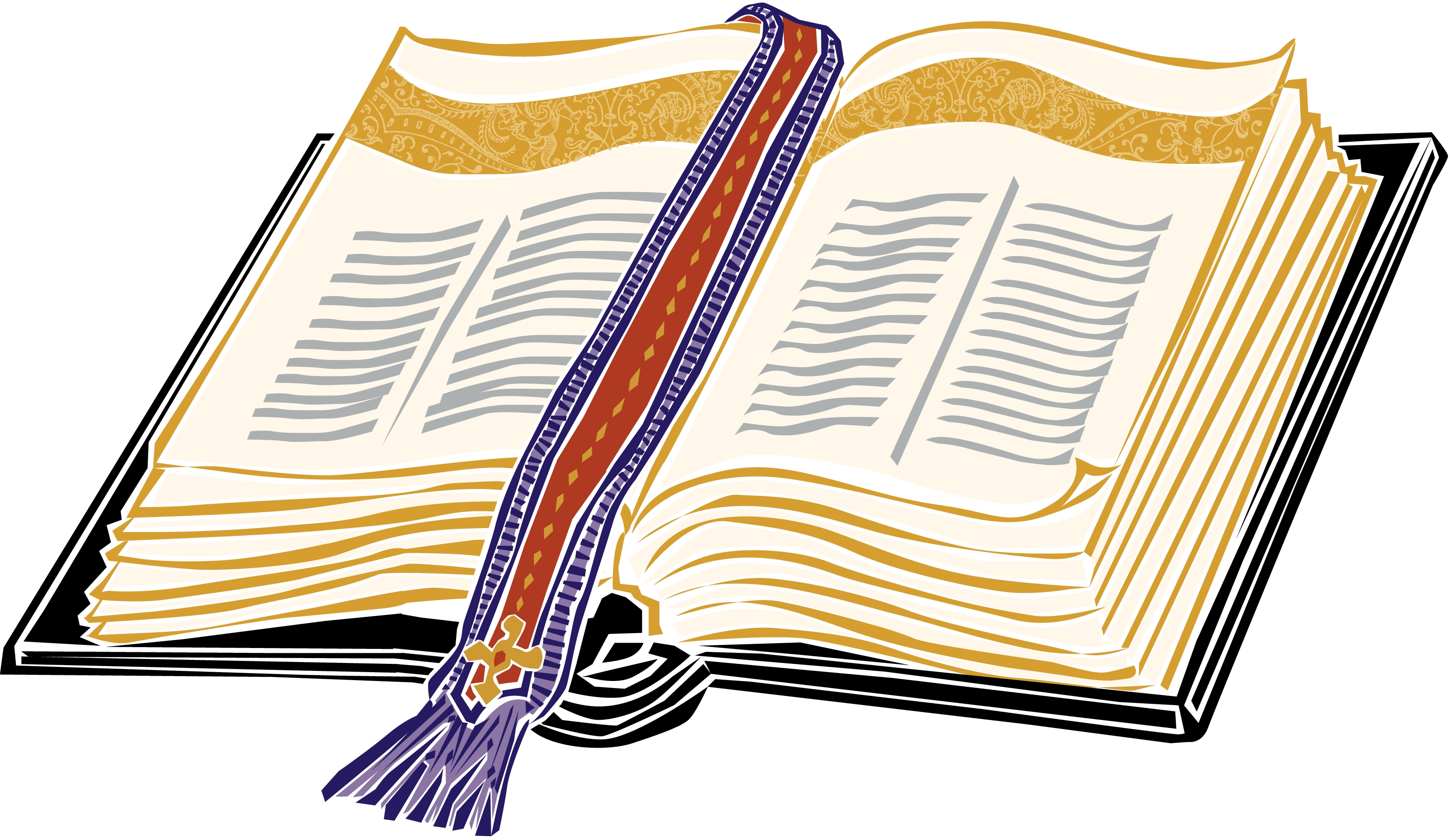 3300x1912 Open Bible Clip Art