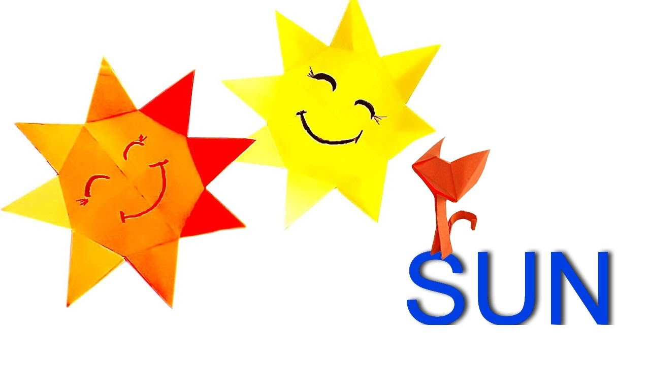1280x720 How To Make A Paper Sun Sun Origami For Kids. Crafts Easy In 8