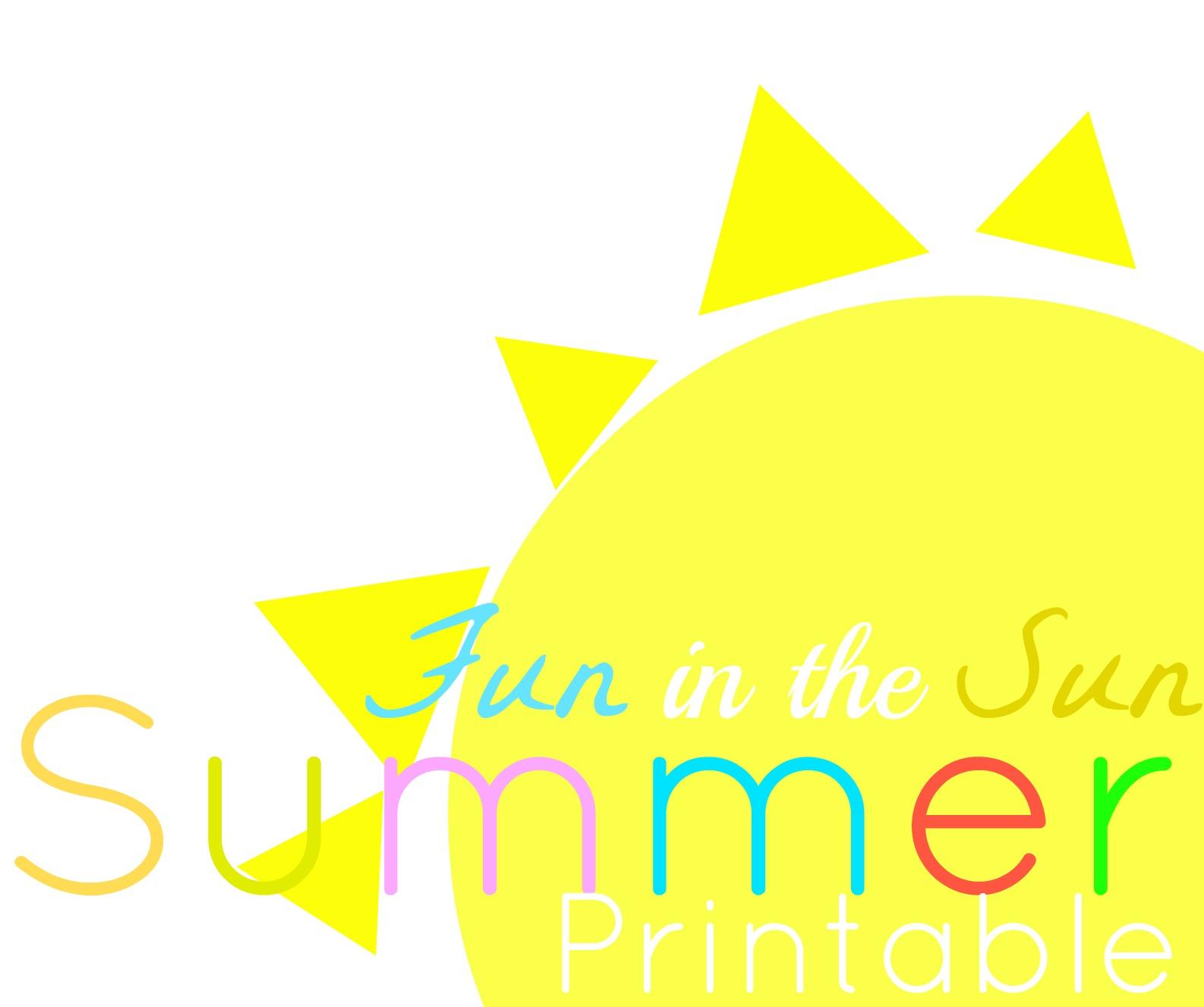 1586x1327 Summer Kids Schedule Printable
