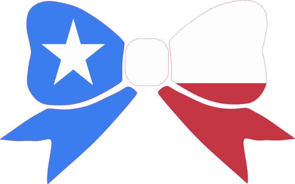 1201x751 8in X 5in Texas Flag Bow Bumper Sticker Decal Window Stickers Car