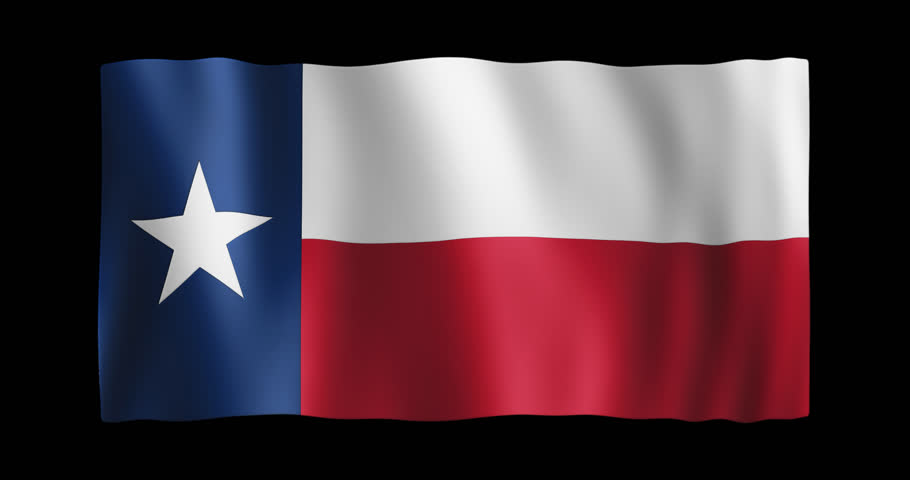 910x480 Shining Waving Texas Flag