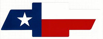 350x134 Texas Flag Chevy Bowtie Decal In Decals
