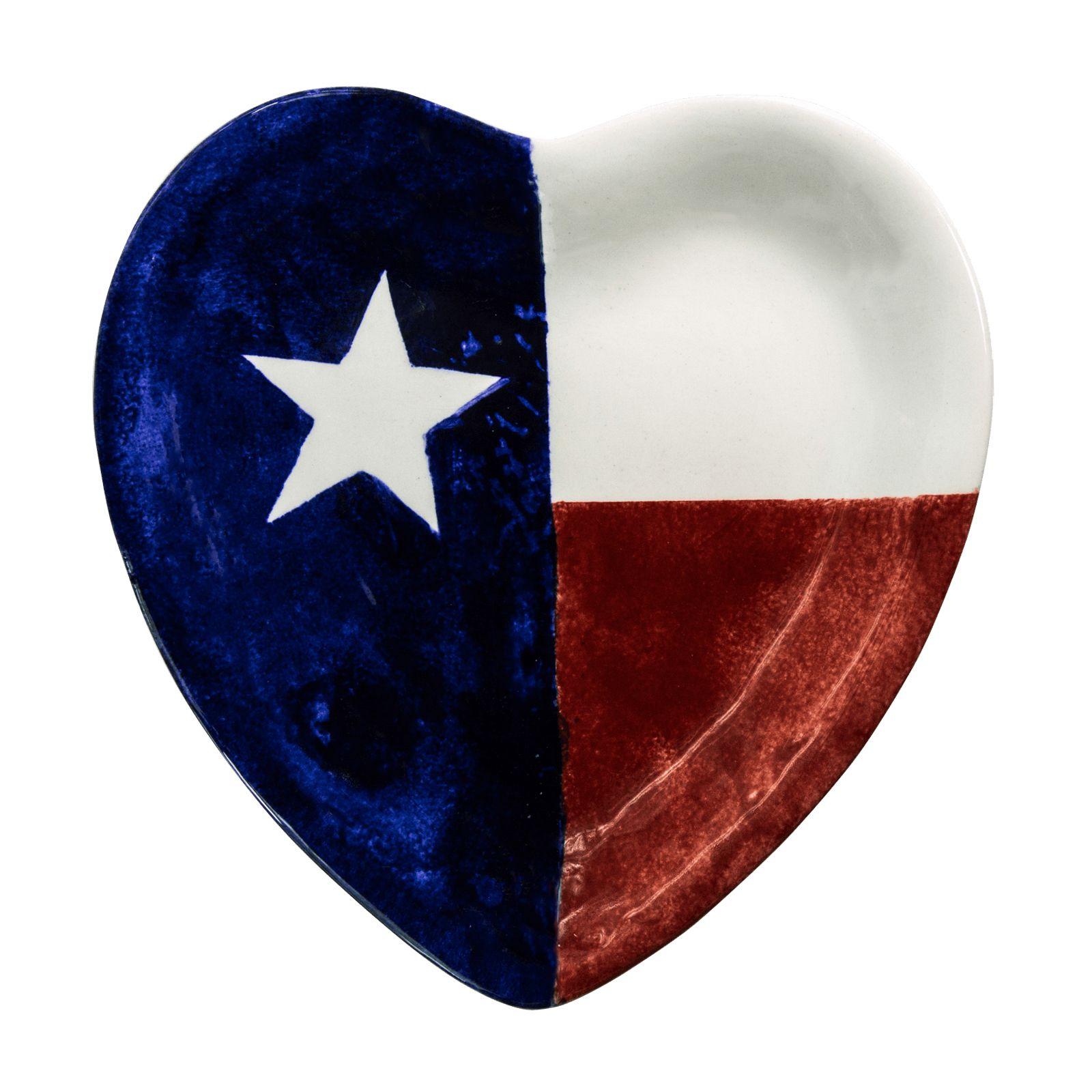 1600x1600 Texas Flag Heart Platter Texas Capitol Gift Shop
