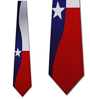 342x376 Texas Flag Neck Tie Necktie Clothing