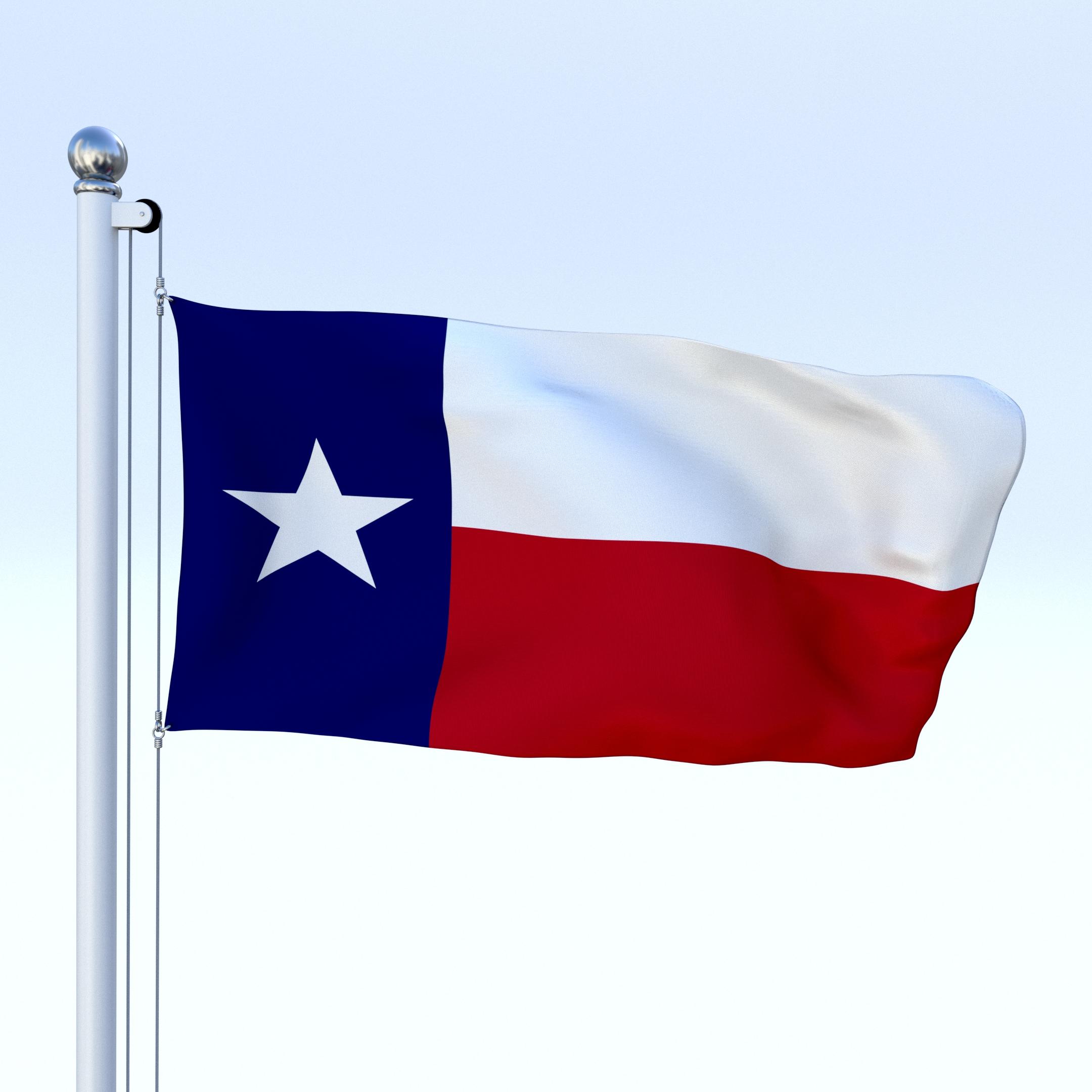 2160x2160 Animated Texas Flag By Dragosburian 3docean