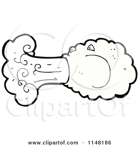450x470 Old Fasion Blowing Wind Clipart