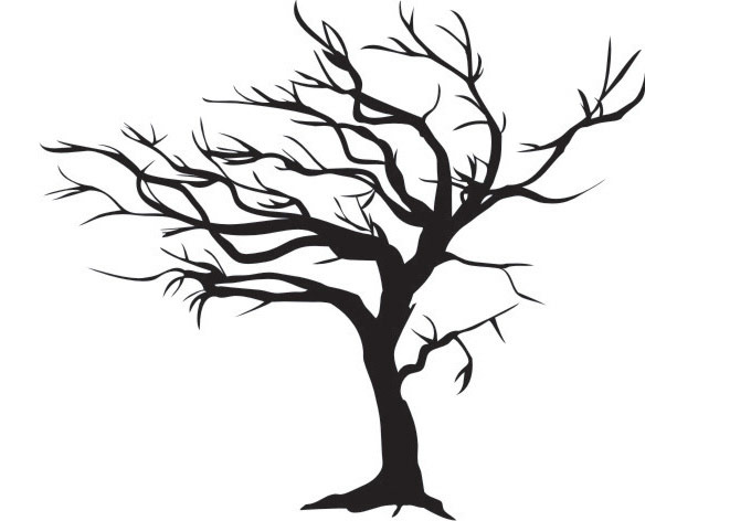 680x472 Blowing Tree In The Wind Wall Decal