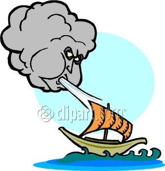 338x350 Wind Blowing Clipart