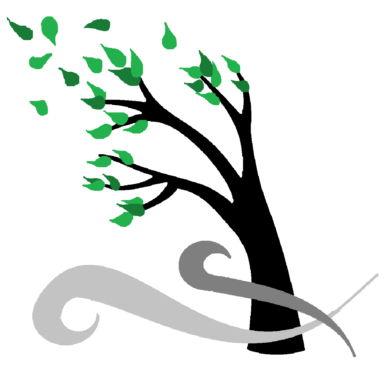 1332x1332 Wind Clipart Tree