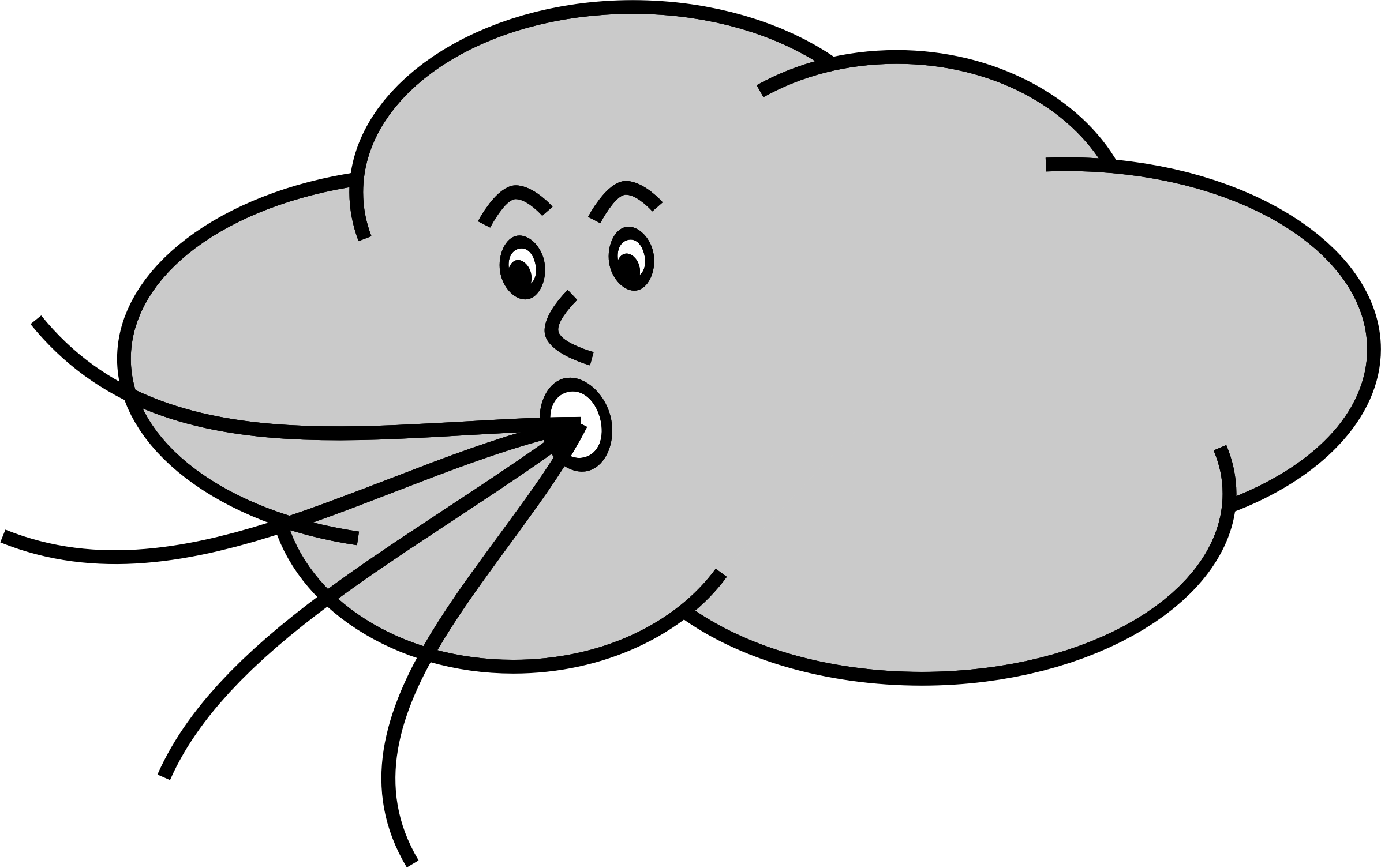 2393x1505 Cloud Blowing Wind Clip Art