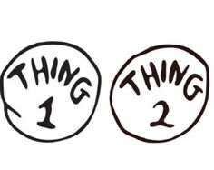 graphic relating to Thing 1 and Thing 2 Free Printable Template identified as Shots Of Detail 1 And Factor 2 Free of charge down load least complicated