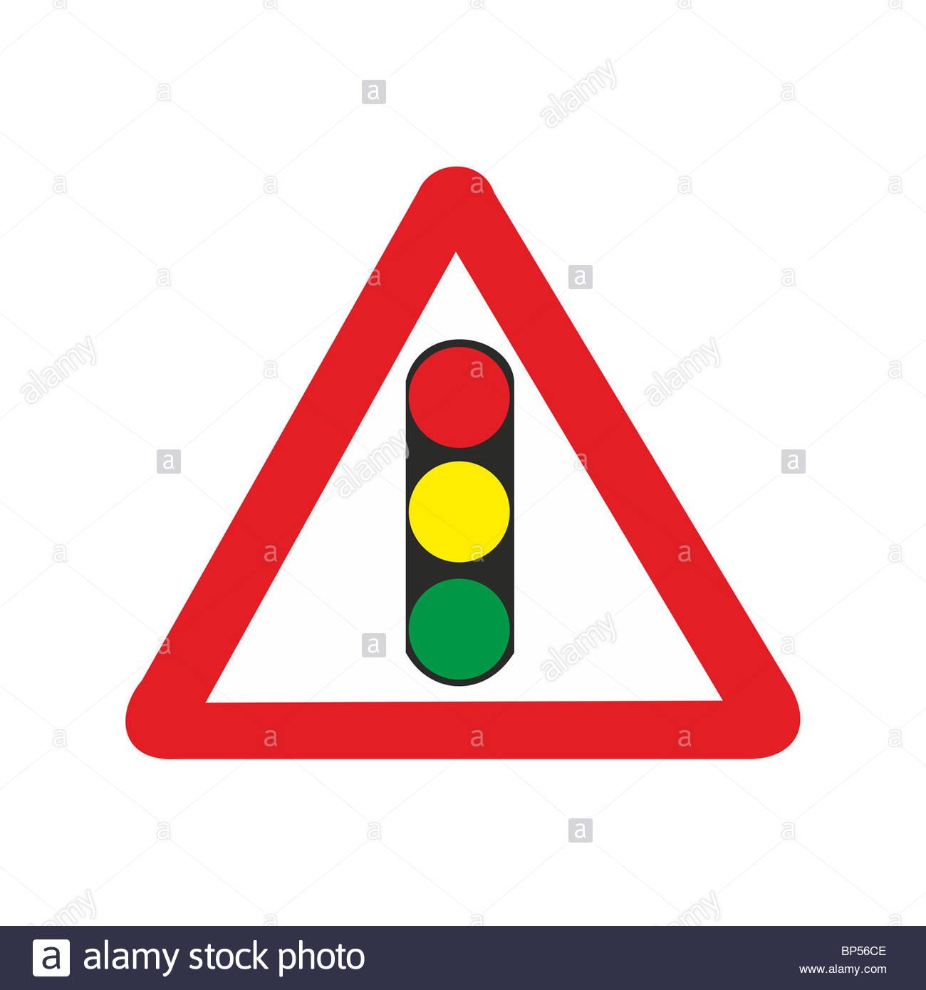 1300x1390 Uk Road Sign Ramp Temporary Traffic Lights Light Signals Signal