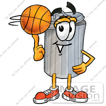 450x450 Cliprt Graphic Of Metal Trash Can Cartoon Character Spinning