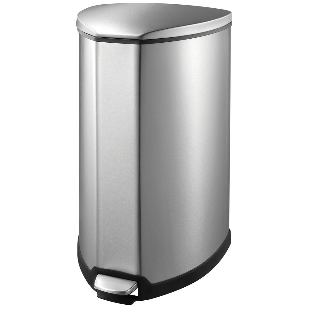 1000x1000 Household Essentials 9.25 Gal. Indoor Trash Can In Stainless 92093