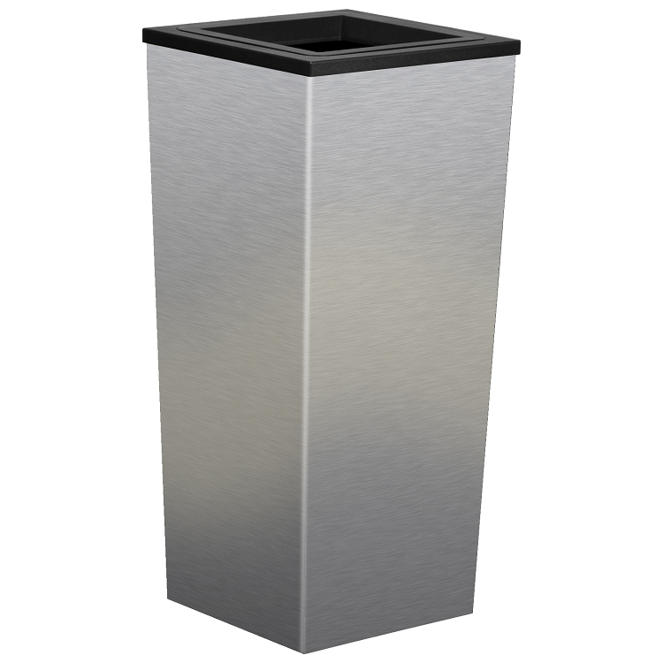 750x750 Metro Stainless Steel Square Trash Can 18 Gallon Trash Cans
