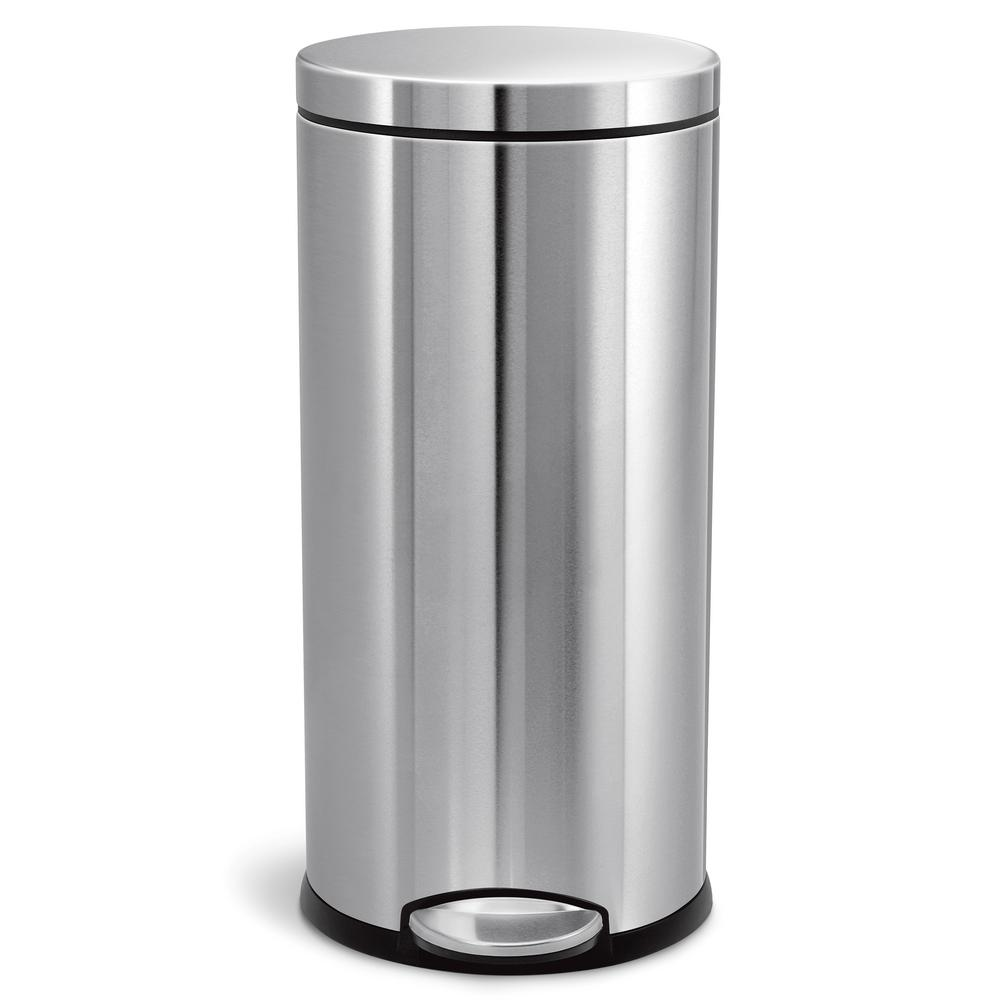 1000x1000 Simplehuman 30 Liter Fingerprint Proof Brushed Stainless Steel