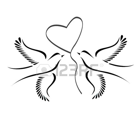 450x450 1,064 Two Doves Stock Vector Illustration And Royalty Free Two