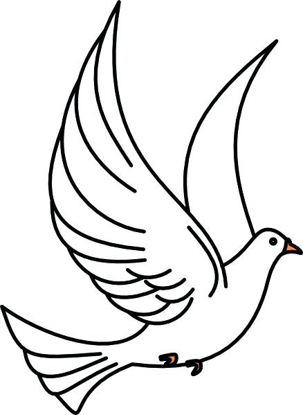 438x599 Doves Clipart White Dove Wedding Bell Pencil And In Color Clipart