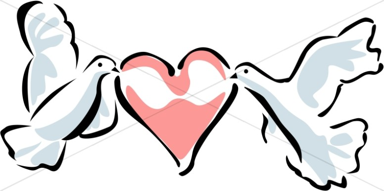 776x386 Two Doves Carrying A Heart Dove Clipart
