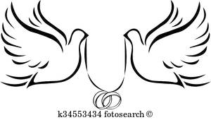 300x170 Two Doves Clipart Eps Images. 628 Two Doves Clip Art Vector