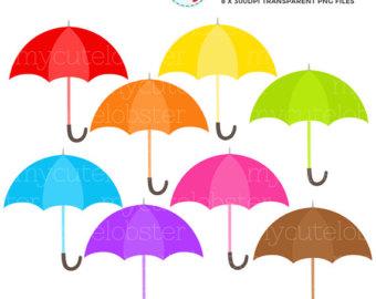 340x270 Umbrella Clipart Rainbow Umbrella