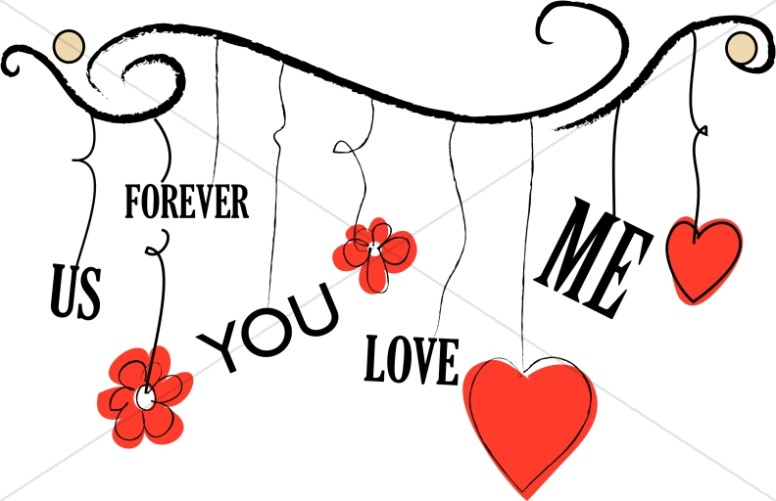 776x501 Hanging Valentines Day Hearts Valentines Day Clipart