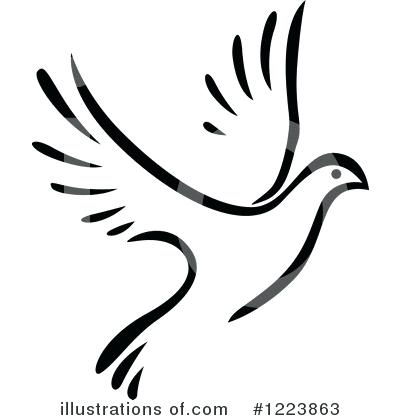 400x420 Doves Clipart Royalty Free Dove Illustration By Vector Tradition
