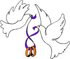 236x202 Doves With Wedding Rings Clipart