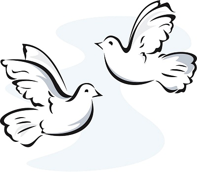 400x348 Kissing Doves Dove Clipart, Explore Pictures