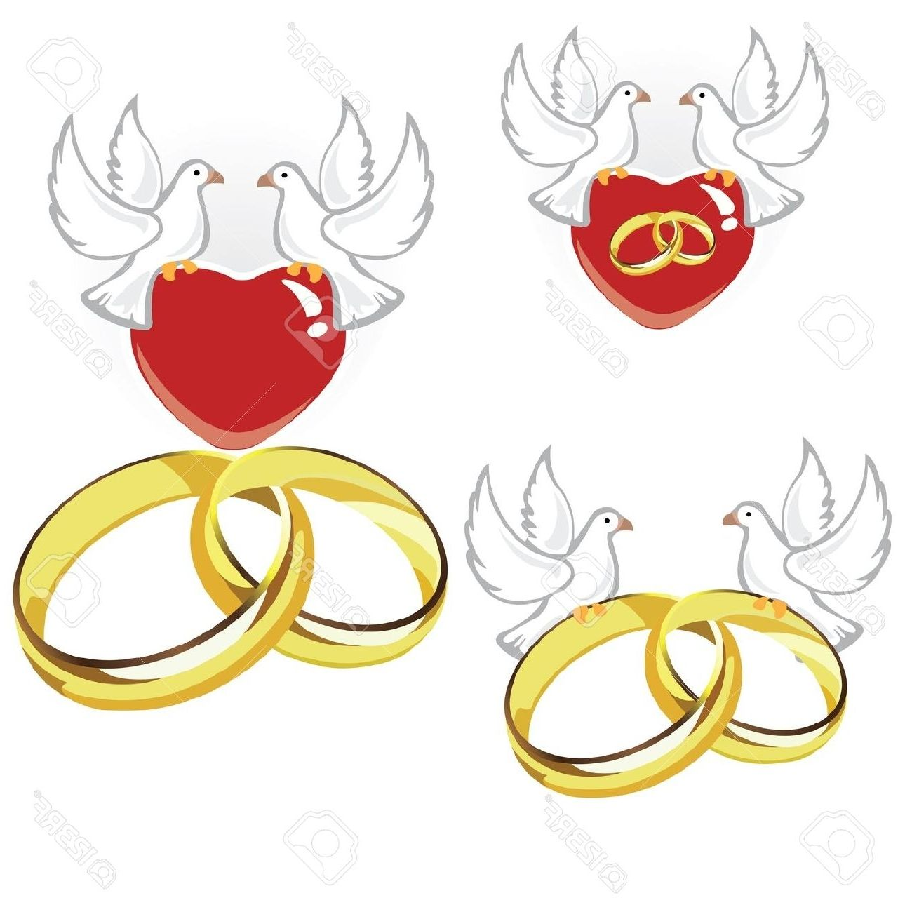 1300x1300 Wedding Doves Holding Rings Dove Clipart, Explore Pictures